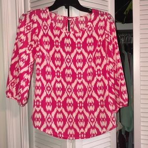 Pink pattern blouse